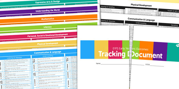 writing area resources eyfs tracker