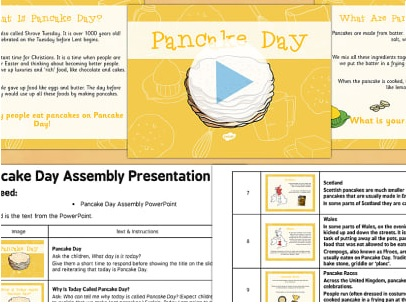 Pancake Day Assembly